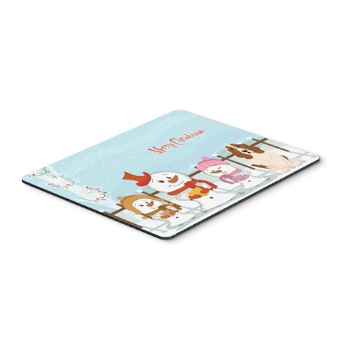 Carolines Treasures BB2352MP Merry Christmas Carolers Basset Hound Mouse Pad Hot Pad or Trivet