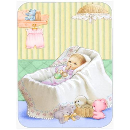 Carolines Treasures APH7093MP New Baby in Crib Mouse Pad Hot Pad or Trivet