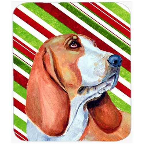 Carolines Treasures LH9242MP Basset Hound Candy Cane Holiday Christmas Mouse Pad Hot Pad Or Trivet