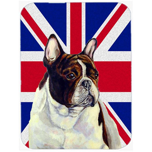 Carolines Treasures LH9489MP 7.75 x 9.25 In. French Bulldog With English Union Jack British Flag Mouse Pad Hot Pad Or Trivet