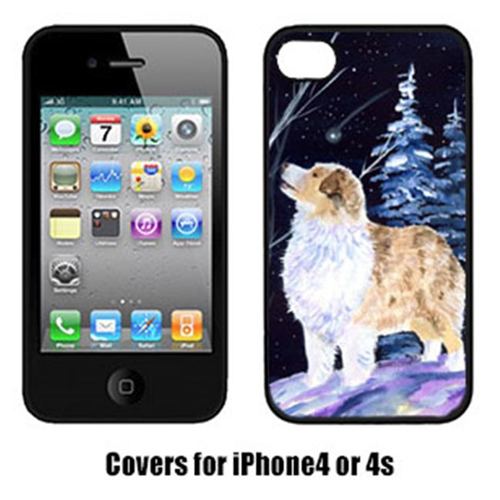 Carolines Treasures SS8367IP4 Starry Night Australian Shepherd Cell Phone cover IPhone 4