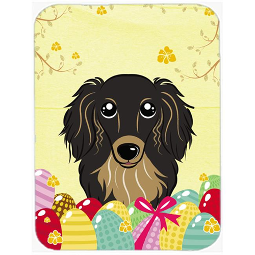 Carolines Treasures BB1895MP Longhair Black & Tan Dachshund Easter Egg Hunt Mouse Pad Hot Pad or Trivet