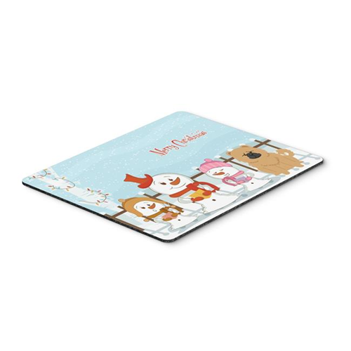 Carolines Treasures BB2475MP Merry Christmas Carolers Chow Chow Cream Mouse Pad Hot Pad or Trivet