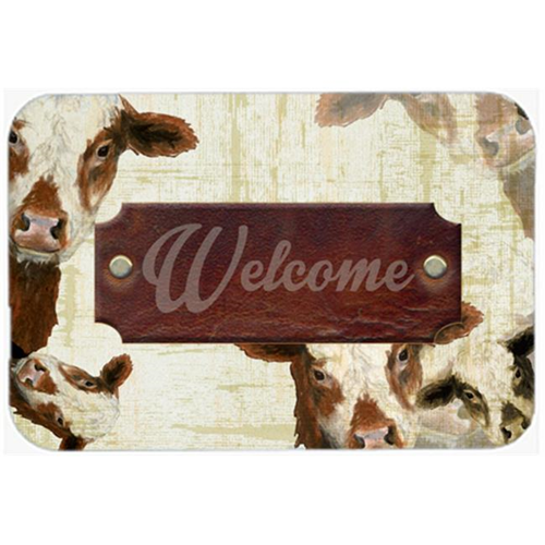 Carolines Treasures SB3065MP 7.75 x 9.25 In. Welcome Cow Mouse Pad Hot Pad Or Trivet