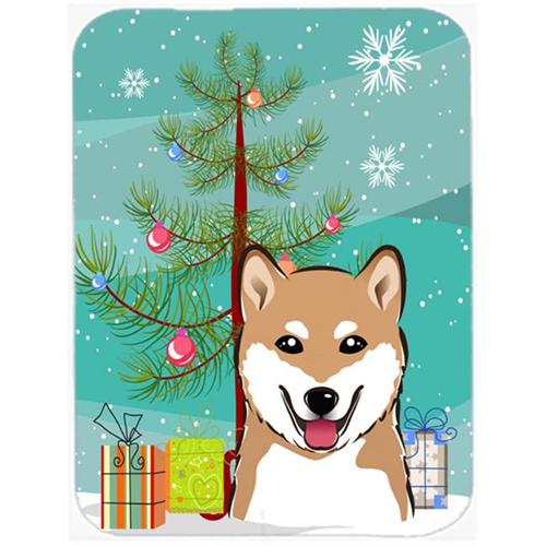 Carolines Treasures BB1597MP Christmas Tree And Shiba Inu Mouse Pad Hot Pad & Trivet