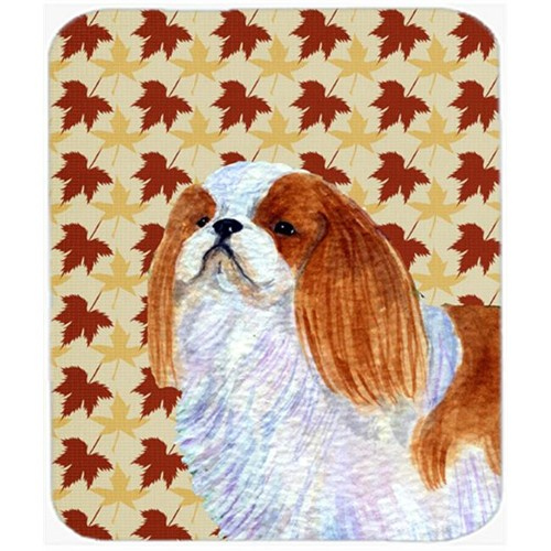 Carolines Treasures SS4349MP English Toy Spaniel Fall Leaves Portrait Mouse Pad Hot Pad Or Trivet