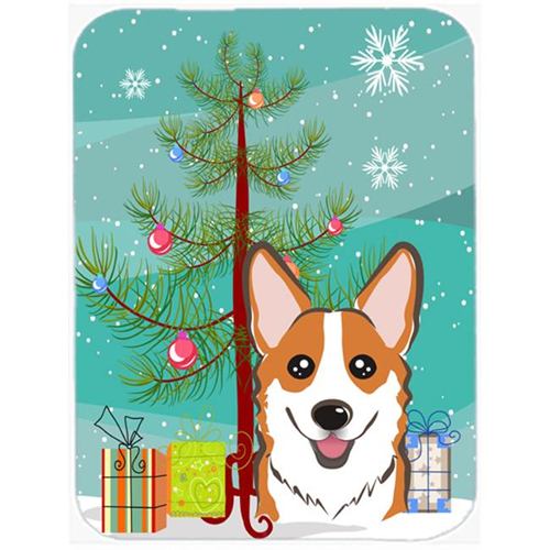 Carolines Treasures BB1626MP Christmas Tree And Red Corgi Mouse Pad Hot Pad & Trivet