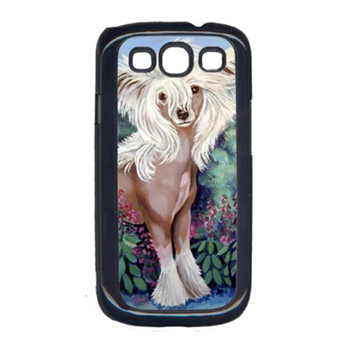 Carolines Treasures 7052GALAXYSIII Chinese Crested In Flowers Cell Phone Cover For Galaxy S111