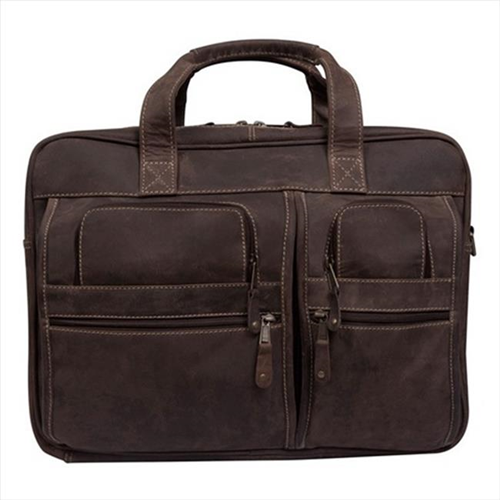 Canyon Outback Leather CS229-44 16 in. Casa Grande Canyon Leather Computer Bag Distressed Brown