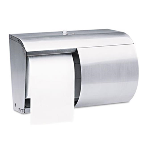 Kimberly-Clark Professional* 09606 Coreless Double Roll Bath Tissue Dispenser 7.1 in. x 10.1 in. x 6.4 in. Stainless Steel