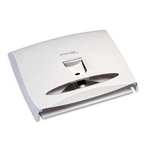 KIMBERLY-CLARK PROFESSIONAL* 09505 Locking Toilet Seat Cover Dispenser- 17 1/2 x 3 1/4 x 13 1/4- White Pearl