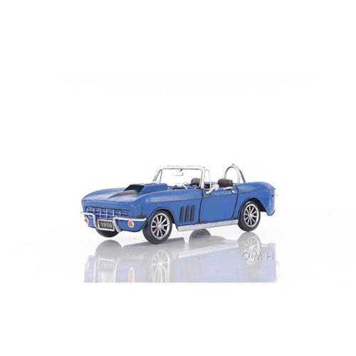 OLD MODERN HANDICRAFTS AJ039 Blue Chevrolet Corvette Sting Ray Sports Car