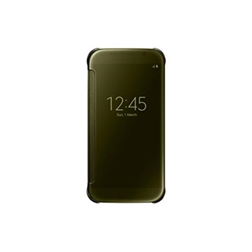 Samsung Electronics Mobility EF-ZG920BFEGUS S-View Flip Cover for Samsung Galaxy S6 - Clear Gold