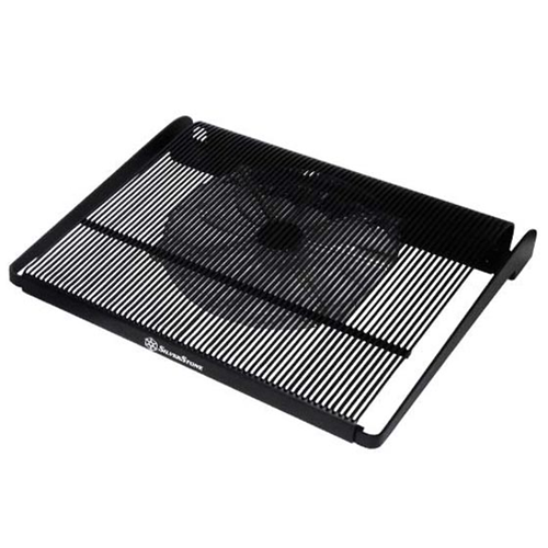Silver Stone Technologies NB04B Lightweight Aluminum Cooler with Low Noise 200 mm Fan for 15 in. Notebook