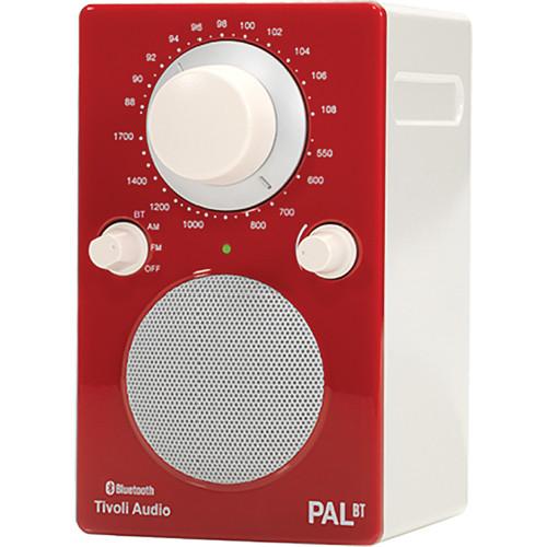 TivoliPAL BT Bluetooth Portable Radio Glossy Red PALBTGR