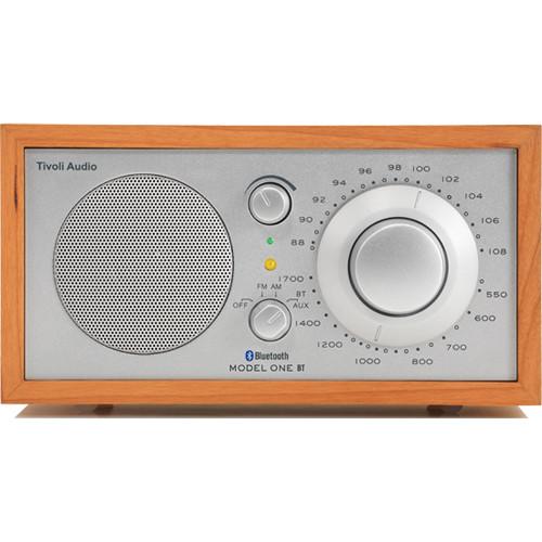 Tivoli Audio Model One BT M1BTSLC AM/FM Table Radio with Bluetooth for Wireless Streaming (Silver/Cherry)