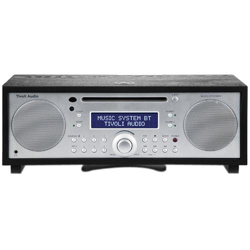 Tivoli Audio Music System BT Black Ash/Silver MSYBTBLK AM/FM/CD Bluetooth Wireless Technology
