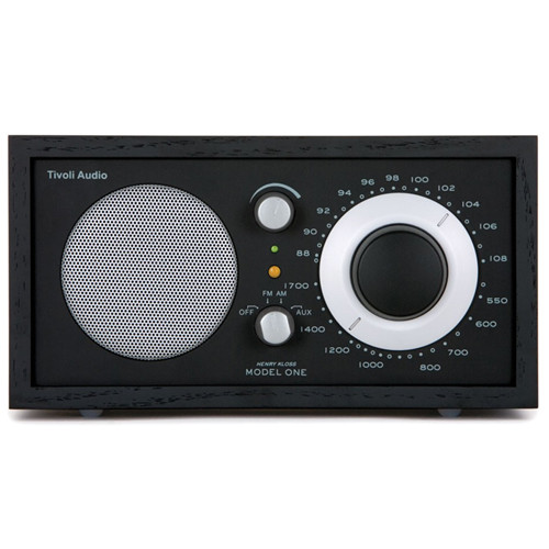 Tivoli Audio Model One BT M1BTBBS AM/FM Table Radio with Bluetooth for Wireless Streaming (Black/Black-Silver)
