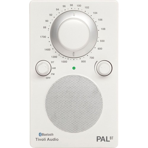 Tivoli PAL BT Bluetooth Portable Radio - Glossy White PALBTGW