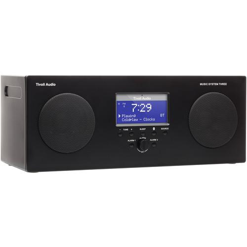Tivoli Audio Music System Three MSY3BLK Portable Hi-Fi System Black