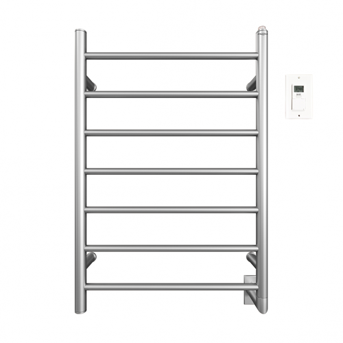 Comfort 7 31 in.Wall Hardwire Electric Towel Warmer and Drying Rack in Brushed Stainless Steel With Timer