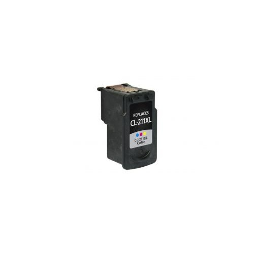 Remanufactured High Yield Color Ink Cartridge for Canon CL-211XL (DPCCL211XLCA)
