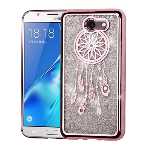 Insten Quicksand Glitter Hard Case For Samsung Galaxy J7 (2017)/J7 Prime/J7 Sky Pro, Rose Gold