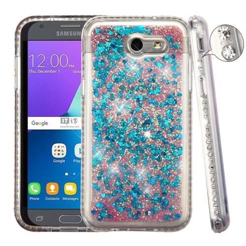 Insten Quicksand Hard Case For Samsung Galaxy Amp Prime 2/J3 (2017)/J3 Emerge/J3 Prime, Blue