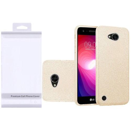 Insten Hard Glitter TPU Cover Case For LG Fiesta LTE/K10 Power/X Charge/X Power 2, Gold