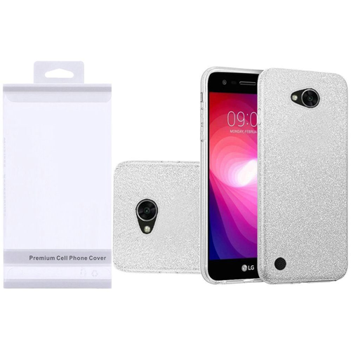 Insten Hard Glitter TPU Cover Case For LG Fiesta LTE/K10 Power/X Charge/X Power 2, Silver