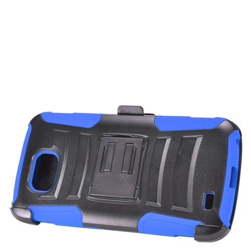 Insten Advanced Armor Hard Hybrid Silicone Cover Case w/stand/Holster For LG X Venture, Blue/Black