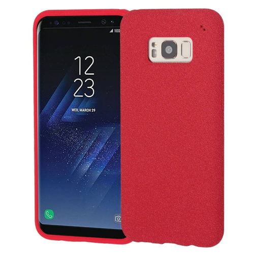 Insten Frosted Spot Rubber Case For Samsung Galaxy S8, Red