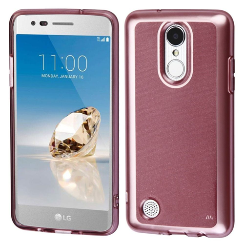 Insten TPU Case For LG Aristo/Fortune/K4 (2017)/K8 (2017)/LV3/Phoenix 3, Rose Gold