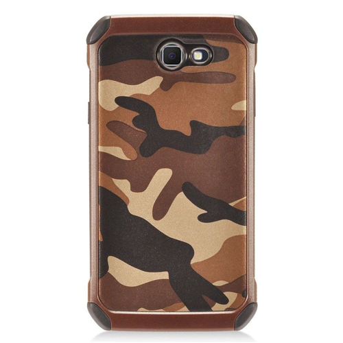 Insten Camouflage Hard Hybrid Plastic TPU Cover Case For Samsung Galaxy J7 (2017), Brown