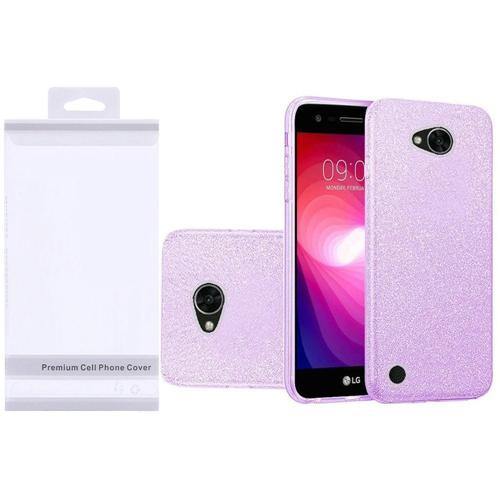 Insten Hard Glitter TPU Cover Case For LG Fiesta LTE/K10 Power/X Charge/X Power 2, Purple