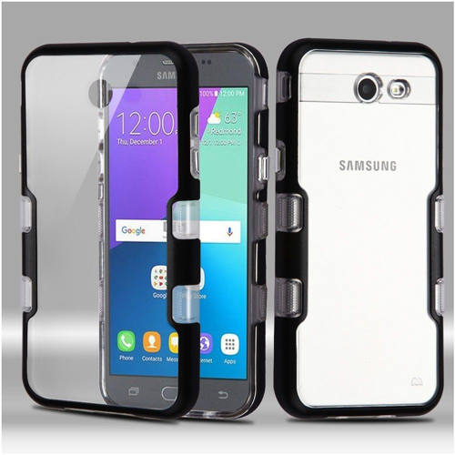 Insten Hard Cover Case For Samsung Galaxy Amp Prime 2/Express Prime 2/J3 (2017)/J3 Emerge, Clear