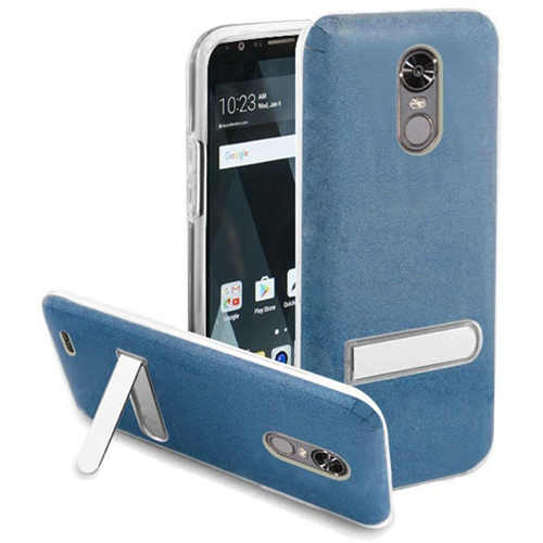 Insten Hard Plastic TPU Cover Case w/stand For LG Stylo 3/Stylo 3 Plus, Blue/Clear