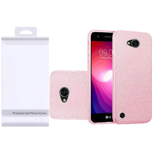 Insten Hard Glitter TPU Cover Case For LG Fiesta LTE/K10 Power/X Charge/X Power 2, Pink