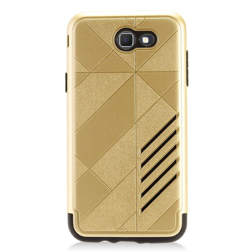 Insten Hard Dual Layer Plastic TPU Case For Samsung Galaxy J7 (2017), Gold/Black