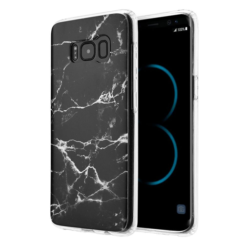 Insten Marble TPU Rubber Case For Samsung Galaxy S8 Plus, Black