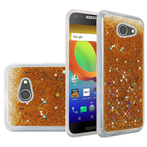 Insten Quicksand Hard Glitter TPU Cover Case For Alcatel A30/Kora, Gold