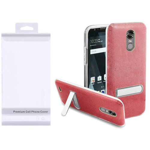 Insten Hard Plastic TPU Case w/stand For LG Stylo 3/Stylo 3 Plus, Red