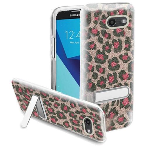 Insten Glitter Leopard Hard Case For Samsung Galaxy Halo/J7 (2017)/J7 Perx/J7 Prime, Pink