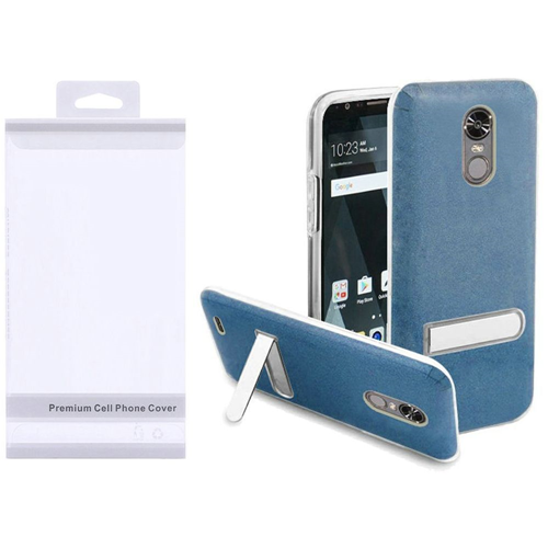 Insten Hard Plastic TPU Case w/stand For LG Stylo 3/Stylo 3 Plus, Blue