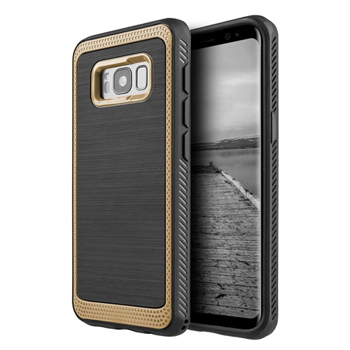 Insten Hard Dual Layer Plastic TPU Case For Samsung Galaxy S8 Plus, Gold