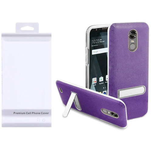 Insten Hard Plastic TPU Case w/stand For LG Stylo 3/Stylo 3 Plus, Purple