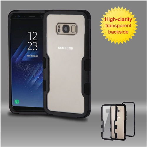 Insten Hard Hybrid Clear Plastic TPU Cover Case For Samsung Galaxy S8, Black