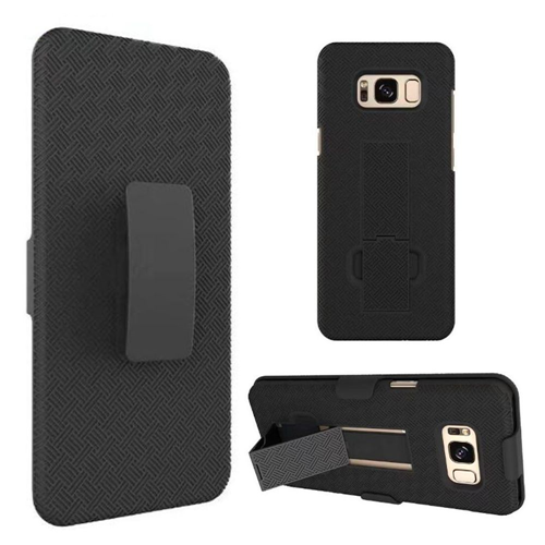 Insten Hard Hybrid TPU Cover Case w/stand/Holster For Samsung Galaxy S8 Plus, Black