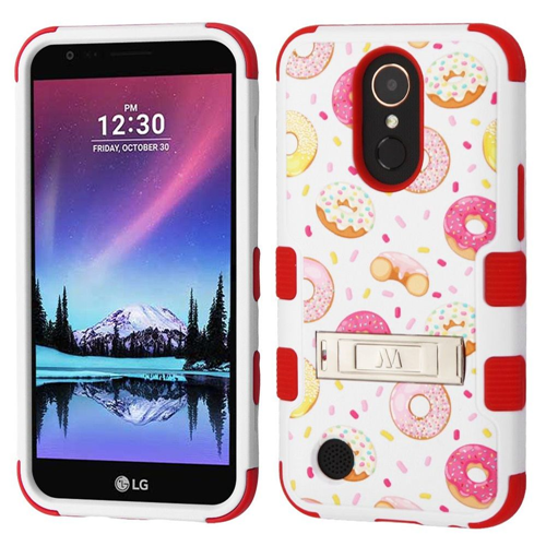 Insten Donuts Hard Dual Layer Case w/stand For LG Harmony/K10 (2017)/K20 Plus/K20 V, Multi-Color