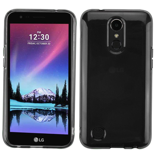 Insten TPU Rubber Transparent Case For LG Harmony/K10 (2017)/K20 Plus/K20 V, Gray